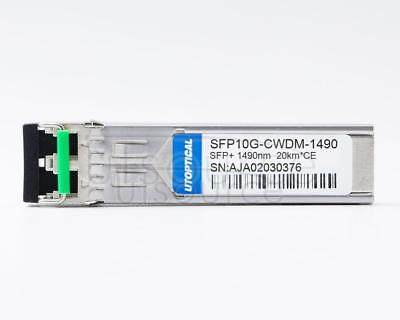 Ciena CWDM-SFP10G-1490 Compatible SFP10G-CWDM-1490 1490nm 20km DOM Transceiver   Every transceiver is individually tested on a full range of Ciena equipment and passed the monitoring of Utoptical's intelligent quality control system.