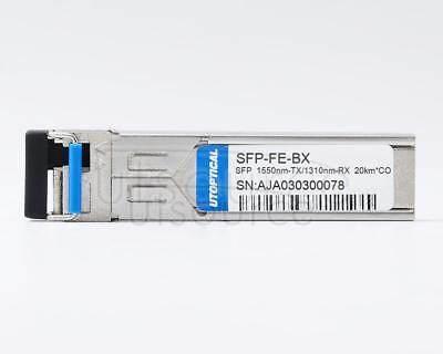 Cisco MFEBX1D Compatible SFP-FE-BX 1550nm-TX/1310nm-RX 20km DOM Transceiver