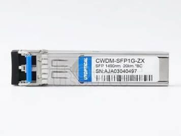 Brocade E1MG-CWDM20-1490 Compatible CWDM-SFP1G-ZX 1490nm 20km DOM Transceiver