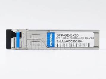 Brocade E1MG-1G-BXU-80 Compatible SFP-GE-BX80 1490nm-TX/1550nm-RX 80km DOM Transceiver