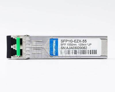 Juniper SFP-1GE-EZX-120 Compatible SFP1G-EZX-55 1550nm 120km DOM Transceiver Every transceiver is individually tested on a full range of Juniper equipment and passed the monitoring of Utoptical's intelligent quality control system.