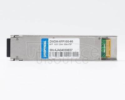 Brocade/Foundry C58 10G-XFP-ZRD-1531-12 Compatible DWDM-XFP10G-80 1531.12nm 80km DOM Transceiver
