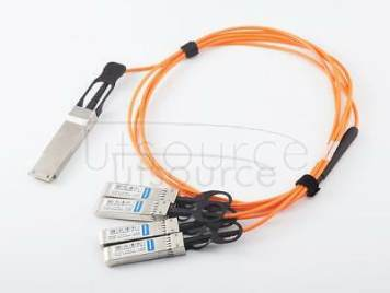 1m(3.28ft) Utoptical Compatible 40G QSFP+ to 4x10G SFP+ Active Optical Cable