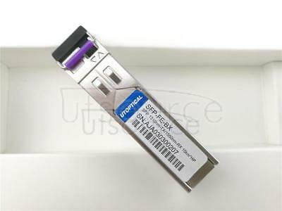 HPE JD100A Compatible SFP-FE-BX 1310nm-TX/1550nm-RX 15km DOM Transceiver   Every transceiver is individually tested on a full range of HP equipment and passed the monitoring of Utoptical's intelligent quality control system.