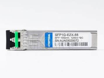Brocade E1MG-EZX-120 Compatible SFP1G-EZX-55 1550nm 120km DOM Transceiver