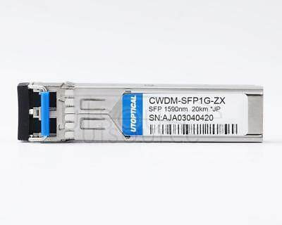 Juniper EX-SFP-GE20KCW1590 Compatible CWDM-SFP1G-ZX 1590nm 20km DOM Transceiver   Every transceiver is individually tested on a full range of Juniper equipment and passed the monitoring of Utoptical's intelligent quality control system.