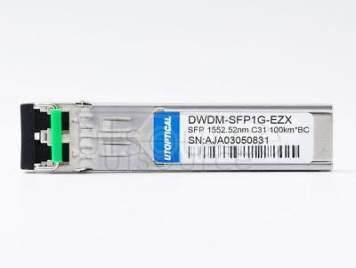 Brocade 1G-SFP-ZRD-1552.52-100 Compatible DWDM-SFP1G-EZX 1552.52nm 100km DOM Transceiver