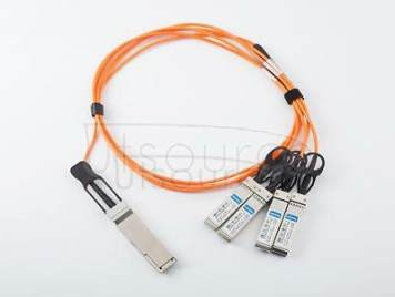 3m(9.84ft) Utoptical Compatible 40G QSFP+ to 4x10G SFP+ Active Optical Cable