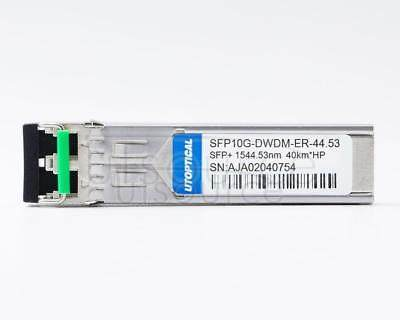 HPE DWDM-SFP10G-44.53-40 Compatible SFP10G-DWDM-ER-44.53 1544.53nm 40km DOM Transceiver Every transceiver is individually tested on a full range of HP equipment and passed the monitoring of Utoptical's intelligent quality control system.