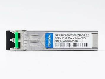 Cisco DWDM-SFP10G-34.25 Compatible SFP10G-DWDM-ZR-34.25 1534.25nm 80km DOM Transceiver