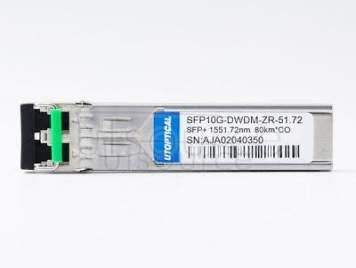 Cisco DWDM-SFP10G-51.72 Compatible SFP10G-DWDM-ZR-51.72 1551.72nm 80km DOM Transceiver