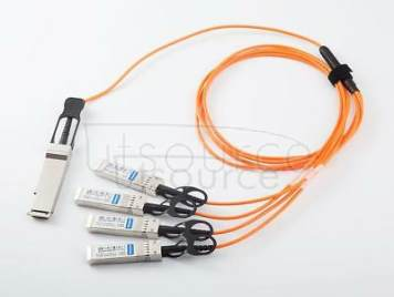 25m(82.02ft) H3C QSFP-4X10G-D-AOC-25M Compatible 40G QSFP+ to 4x10G SFP+ Active Optical Cable