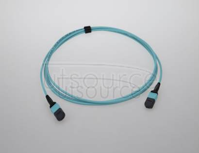 2m (7ft) MTP Female to Female 12 Fibers OM3 50/125 Multimode Trunk Cable, Type B, Elite, Plenum (OFNP), Aqua The MTP Trunk Cable is designed for 40G QSFP+ SR4, 40G QSFP+ CSR4 and 100G QSFP28 SR4 optics direct connection and high-density data center applications<br/> The US Conec MTP connectors are fully compliant with the MPO standards.