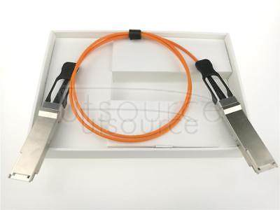 25m(82.02ft) Dell Force10 CBL-QSFP-40GE-25M Compatible 40G QSFP+ to QSFP+ Active Optical Cable