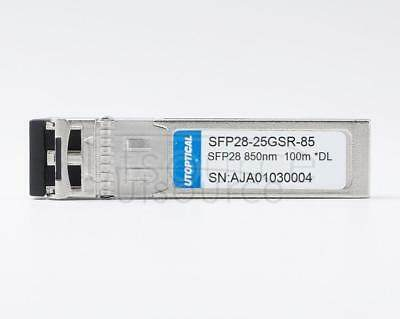 Dell Compatible SFP28-25GSR-85 850nm 100m  DOM Transceiver  Every transceiver is individually tested on a full range of Dell equipment and passed the monitoring of UTOPTICAL's intelligent quality control system.