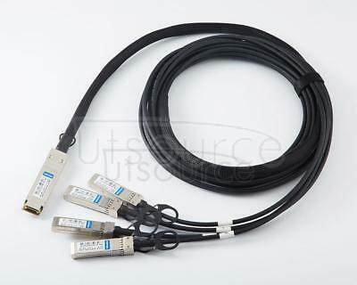 3m(9.84ft) Juniper Networks QFX-QSFP-DACBO-3M Compatible 40G QSFP+ to 4x10G SFP+ Passive Direct Attach Copper Breakout Cable