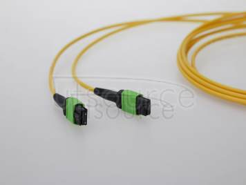 2m (7ft) MTP Female to Female 12 Fibers OS2 9/125 Single Mode Trunk Cable, Type A, Elite, Plenum (OFNP), Yellow