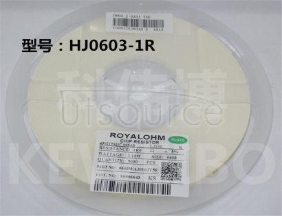 0603 HF 1R0 1R 1/10W 1% (1000PCS)