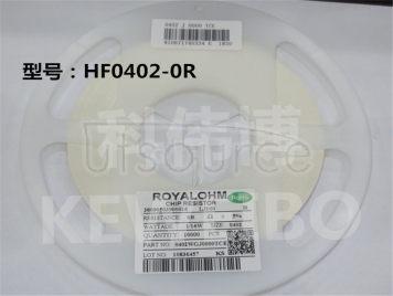 0402 HF 0R 1/16W 1% (1000PCS