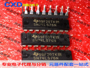SN74LS76N SN74LS76AN Dual JK Flip-Chip with Set and Clear MCU Chip IC