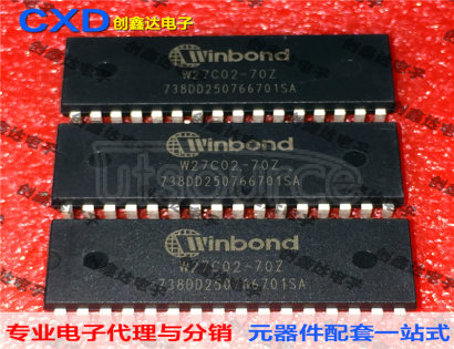 Utsource is distributor of W27C02-70Z W27C020-70 Electrically Erasable EPROM Integrated Circuit Microcontroller Chip Storage IC Winbond,0738+, buy W27C02-70Z W27C020-70 Electrically Erasable EPROM Integrated Circuit Microcontroller Chip Storage IC Winbond,0738+, in stock, new&original with lower price, offer image datasheet|pdf
