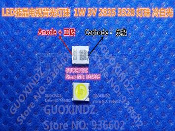 JUFEI LED Backlight 1W 3V 1210 3528 2835 84LM Cool white LCD Backlight for TV TV Application 01.JT.2835BPW1-C