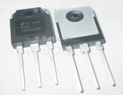 FQA13N50CF QFET? N-Channel MOSFET, 11A to 30A, Fairchild Semiconductor Fairchild Semiconductor's new QFET? planar MOSFETs use advanced, proprietary technology to offer best-in-class operating performance for a wide range of applications, including power supplies, PFC (Power Factor Correction), DC-DC Converters, Plasma Display Panels (PDP), lighting ballasts, and motion control. They offer reduced on-state loss by lowering on-resistance (RDS(on)), and reduced switching loss by lowering gate charge (Qg) and output capacitance (Coss). By using advanced QFET? process technology, Fairchild can offer an improved figure of merit (FOM) over competing planar MOSFET devices.