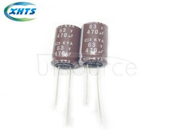 NIPPON CHEML-CON EKYA-630ELL471MK25S DIP Capacitors 63V470UF KYA 12.5X25