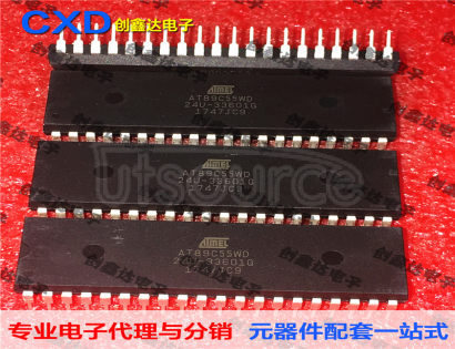 AT89C55WD-24PU AT89C55WD-24U Microcontroller Single Chip IC Integrated Circuit Storage IC