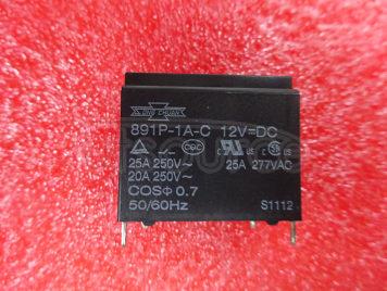 891P-1A-C 12VDC 12V 25A 4PINS