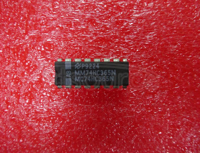 74HC365N Hex buffer/line driver; 3-state - Description: Hex Buffer/Line Driver; Non-Inverting 3-State ; Logic switching levels: CMOS ; Number of pins: 16 ; Output drive capability: +/- 7.8 mA ; Power dissipation considerations: Low Power or Battery Applications ; Propagation delay: 9@5V ns; Voltage: 2.0-6.0 V