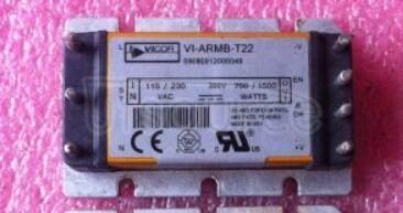 VI-ARMB-T22 1-OUTPUT  500 W  AC-DC   UNREG  PWR  SUPPLY   MODULE