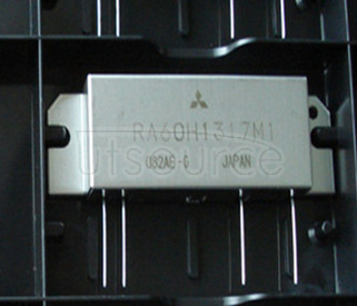 RA60H1317M1  RA60H1317M1A The RA60H1317M1A is a 60-watt RF MOSFET Amplifier Module for 12.5-volt mobile radios that operate in the 136- to 174-MHz range.