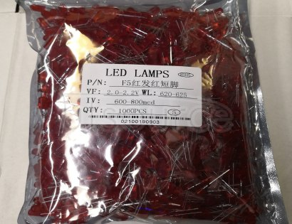 F5MM LED RED EMITTING DIODE