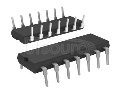 MC33074PG 3-44V Quad Channel Operational Amplifier, Ta = -40 to +85°C - Pb-free; Package: PDIP-14; No of Pins: 14; Container: Rail; Qty per Container: 500
