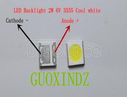 WOOREE High Power LED LED Backlight 2W 6V 3535 150LM Cool white LCD Backlight for TV TV Application WM35E2F-YR09B-eA