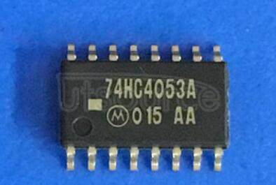 74HC4053A 7-stage binary ripple counter - Description: 7-Stage Binary Ripple Counter ; Fmax: 98 MHz; Logic switching levels: CMOS ; Number of pins: 14 ; Output drive capability: +/- 5.2 mA ; Power dissipation considerations: Low Power or Battery Applications ; Propagation delay: 14@5V ns; Voltage: 2.0-6.0 V; Package: SOT108-1 SO14; Container: Bulk Pack, CECC