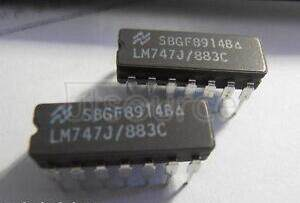 LM747J/883C Voltage-Feedback Operational Amplifier