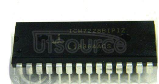 ICM7228BIPIZ 8-Digit, Microprocessor-Compatible, LED Display Decoder Driver