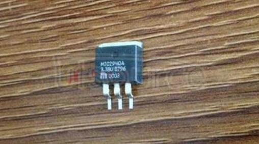 MIC2940A-3.3BU Linear Voltage Regulator IC; Output Current Max:1.25A; Package/Case:3-TO-263; Current Rating:1.25A; Leaded Process Compatible:No; Output Voltage Max:3.3V; Peak Reflow Compatible 260 C:No; Voltage Regulator Type:Low Dropout LDO