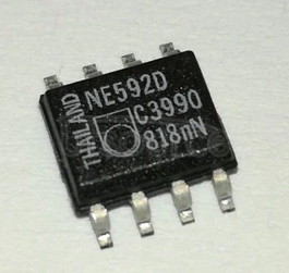 NE592D8 Monolithic, Two-Stage, Differential Output, Wideband Video Amplifier ; Package: SOIC-8 Narrow Body; No of Pins: 8; Container: Rail; Qty per Container: 98