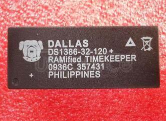 DS1386-32-120+ IC RTC CLK/CALENDAR PAR 32-DIP