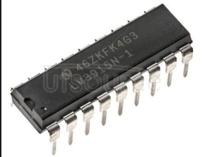 LM3915N-1/NOPB LM3915 Dot/Bar Display Driver<br/> Package: MDIP<br/> No of Pins: 18<br/> Qty per Container: 20/Rail
