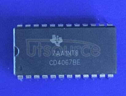 CD4067B Quad Differential Comparator 20-LCCC -55 to 125