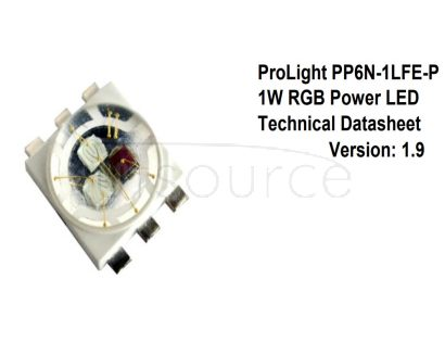 ProLight opto High Power LED RGB 3-in-1 1W 5040 4040 RGB Full Color PP6N-1LFE-P Entertainment Lighting Application