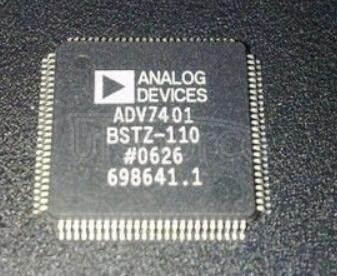 ADV7401BSTZ-110 10-Bit, Integrated, Multiformat SDTV/HDTV Video Decoder and RGB Graphics Digitizer<br/> Package: LQFP<br/> No of Pins: 100<br/> Temperature Range: Industrial