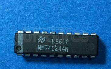 MM74C244N Non-Inverting Octal Buffer and Line Driver with 3-STATE Outputs; Package: DIP; No of Pins: 20; Container: Rail