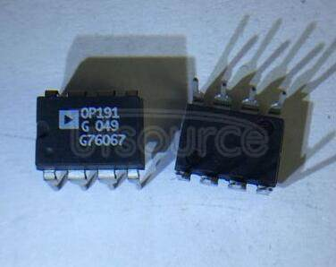 OP191 Micropower Single-Supply Rail-to-Rail Input/Output Op Amps