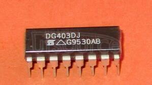 DG403DJ 2 Circuit IC Switch 1:1 45 Ohm 16-PDIP