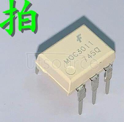 MOC3011M 6-Pin DIP 250V Random Phase Triac Driver Output Optocoupler<br/> Package: DIP-W<br/> No of Pins: 6<br/> Container: Bulk